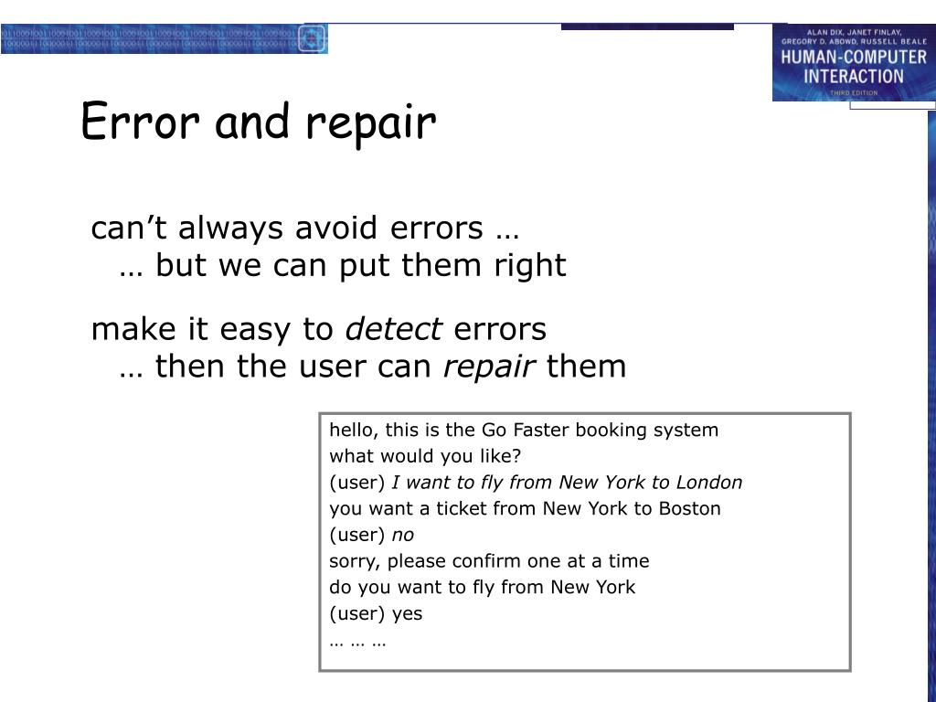 can't always avoid errors …