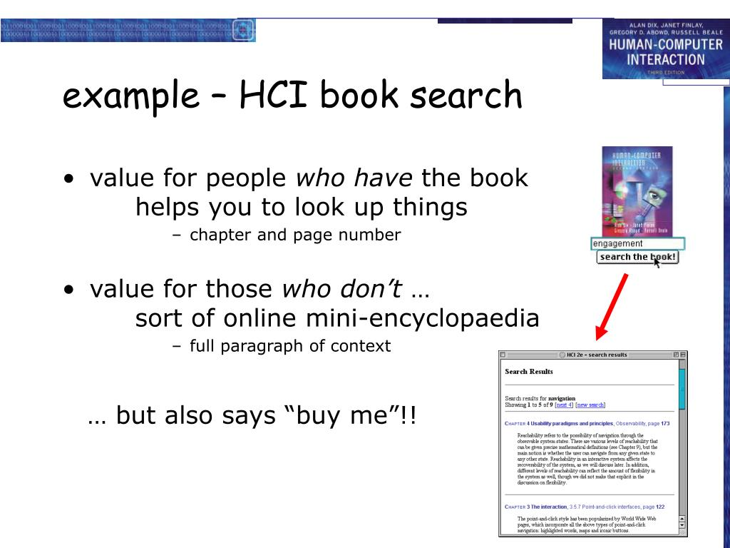 example – HCI book search