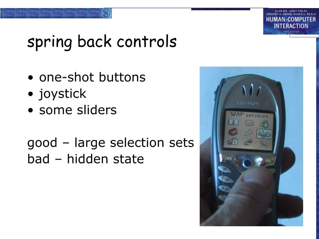 spring back controls