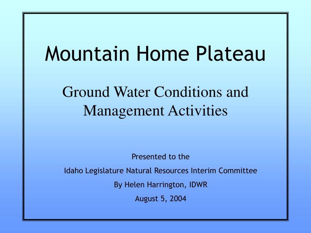 Mountain Home Plateau