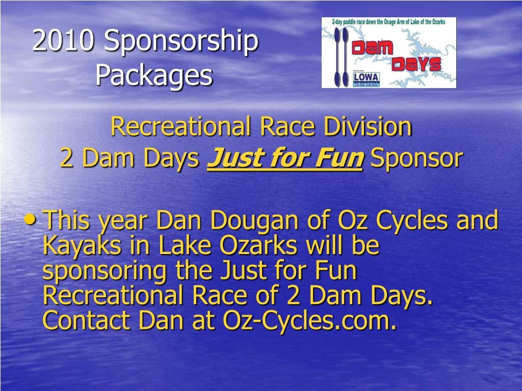 2010 Sponsorship
