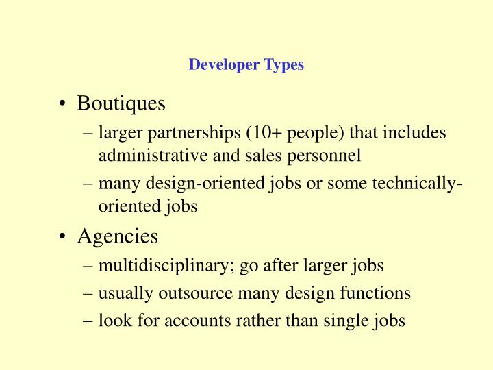 Developer Types
