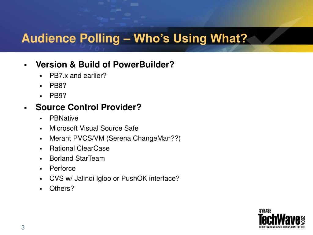 Audience Polling – Who's Using What?