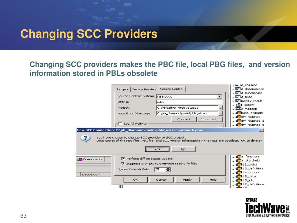 Changing SCC Providers