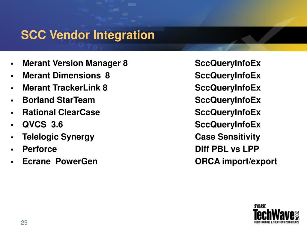 SCC Vendor Integration