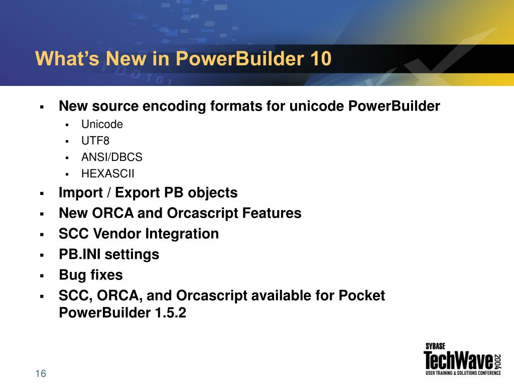 What's New in PowerBuilder 10