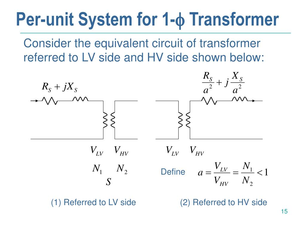 Per-unit System for 1-