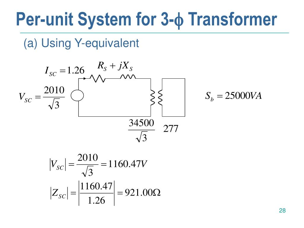 Per-unit System for 3-