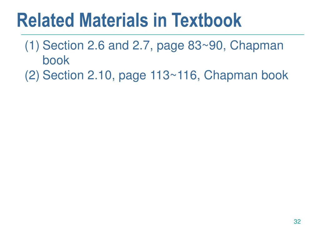 Related Materials in Textbook