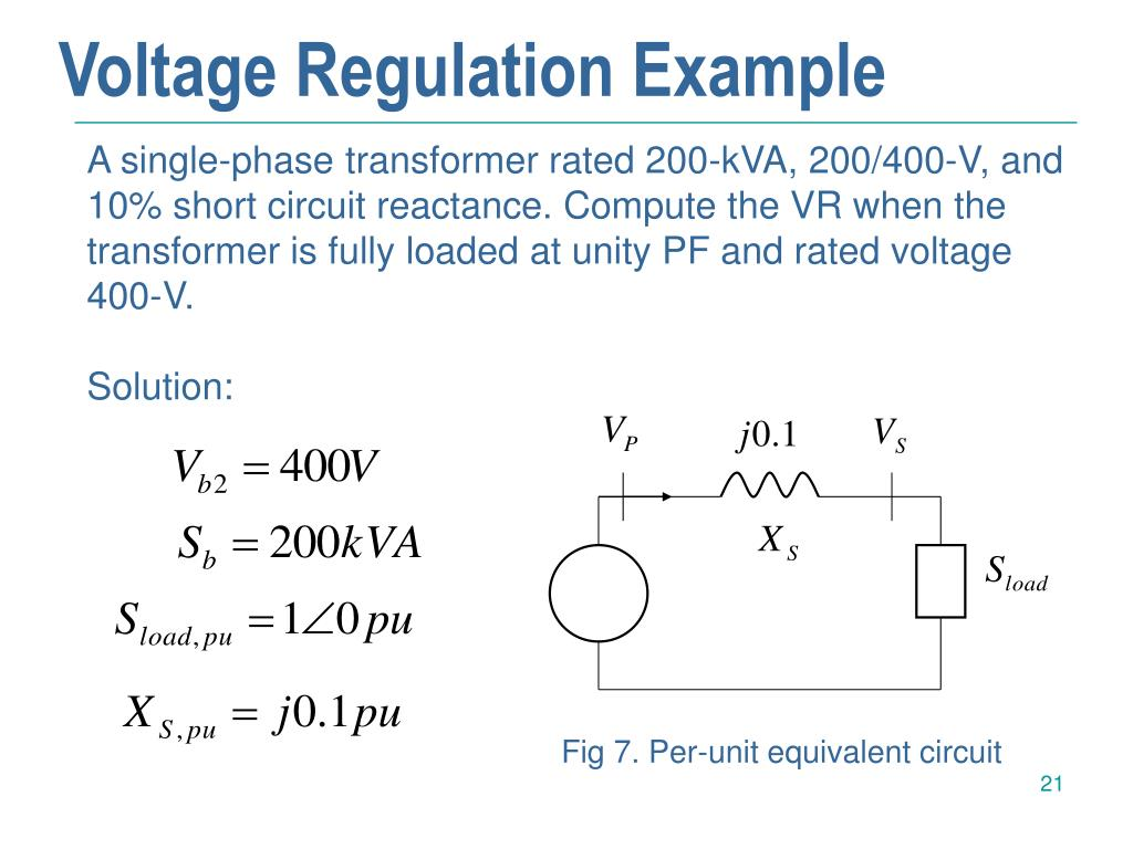 Voltage Regulation Example