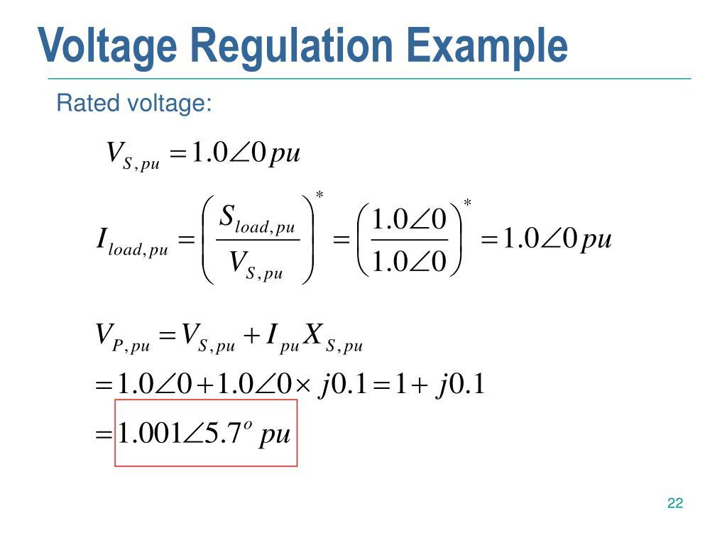 Voltage Regulation Example