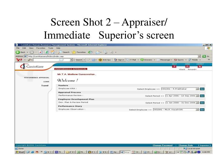 Screen Shot 2 – Appraiser/