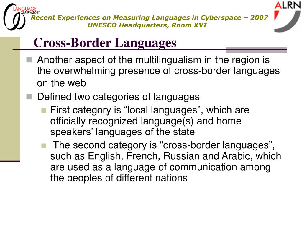 Cross-Border Languages