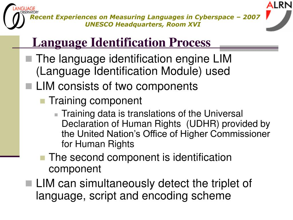 Language Identification Process