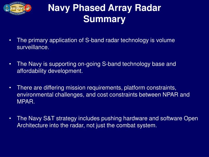 Navy Phased Array Radar