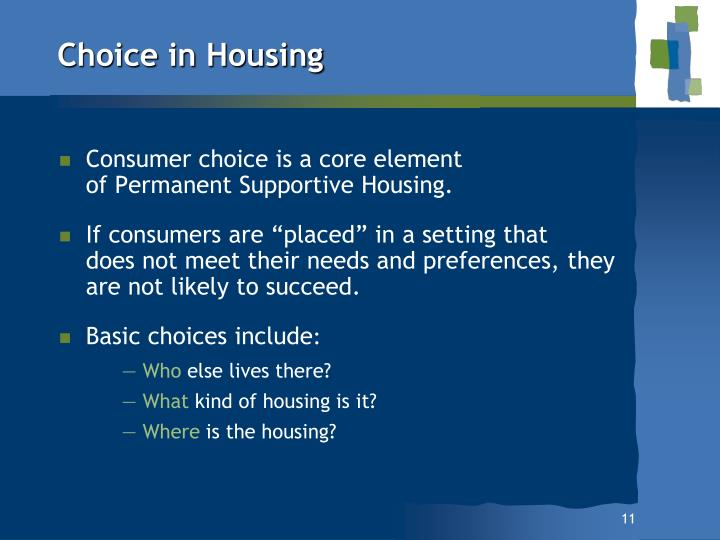 Choice in Housing