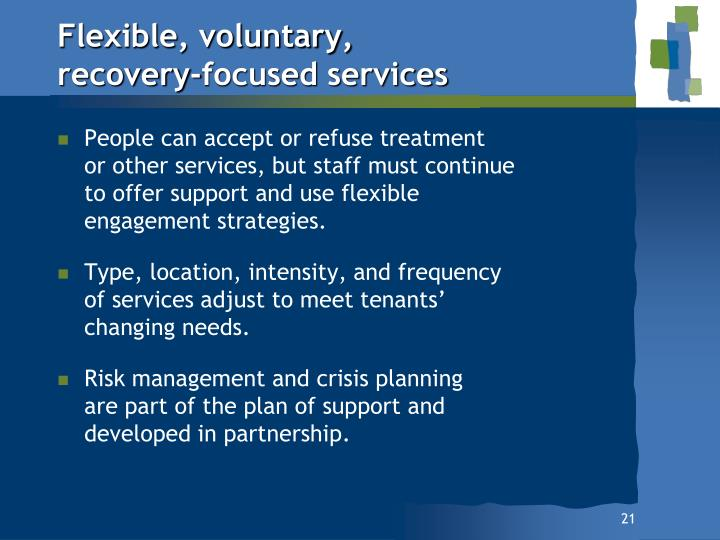 Flexible, voluntary,