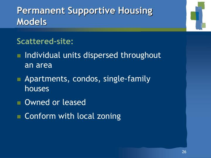 Permanent Supportive Housing Models