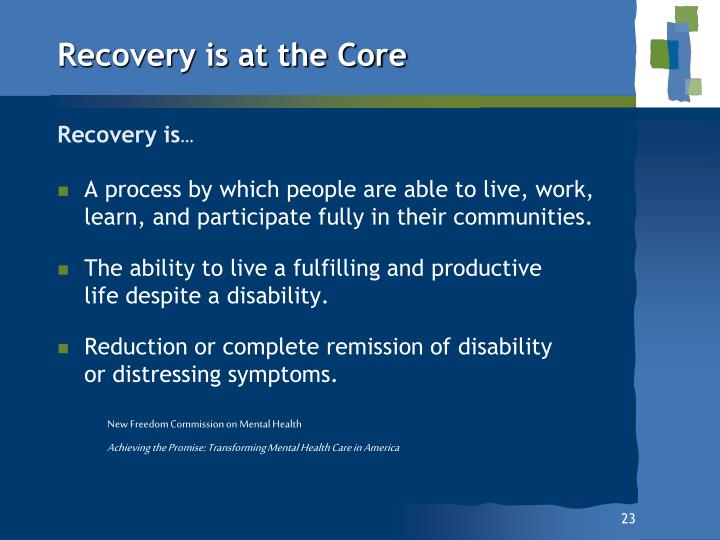 Recovery is at the Core