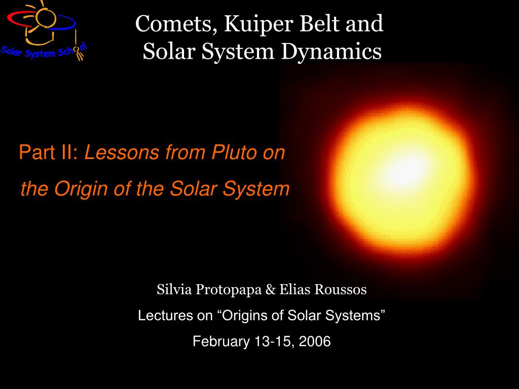 Comets, Kuiper Belt and