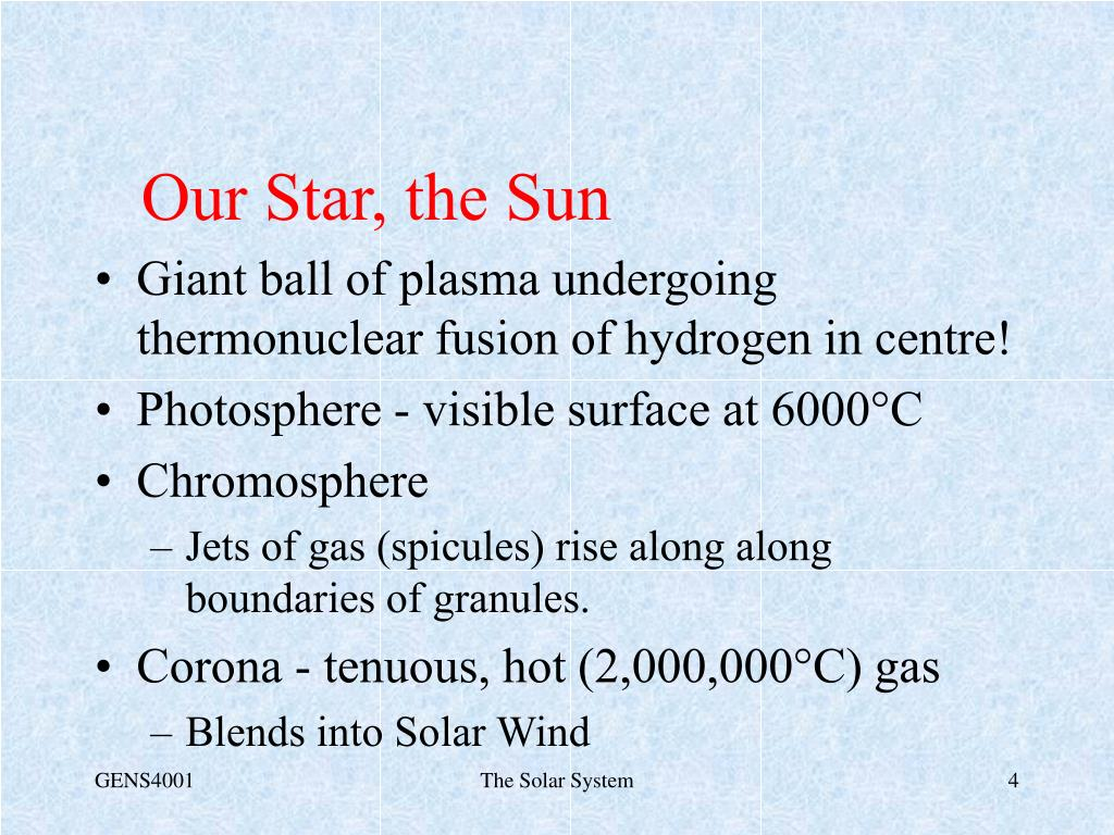 Our Star, the Sun