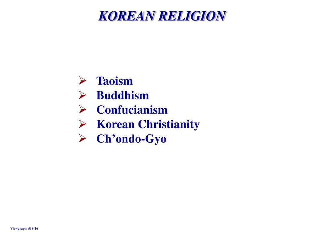 KOREAN RELIGION