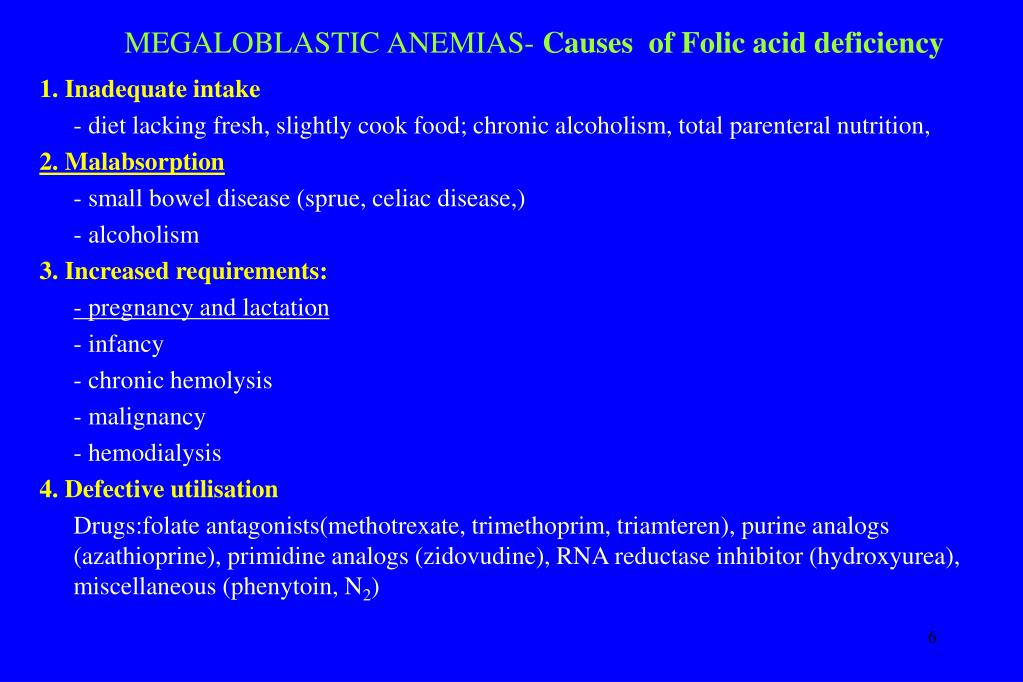 Folic acid deficiency low sperm count
