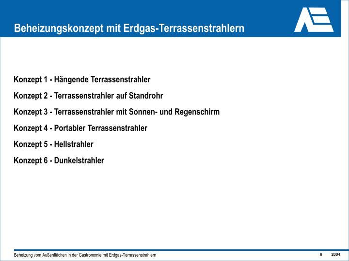 Beheizungskonzept mit Erdgas-Terrassenstrahlern