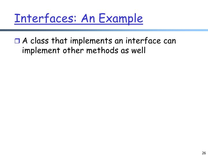 Interfaces: An Example