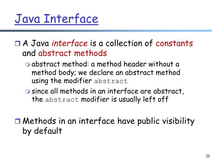 Java Interface