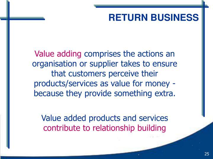 RETURN BUSINESS