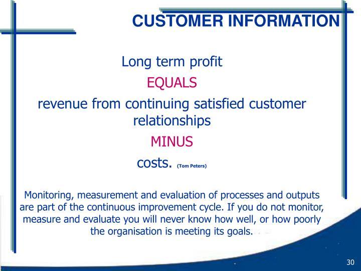 Long term profit