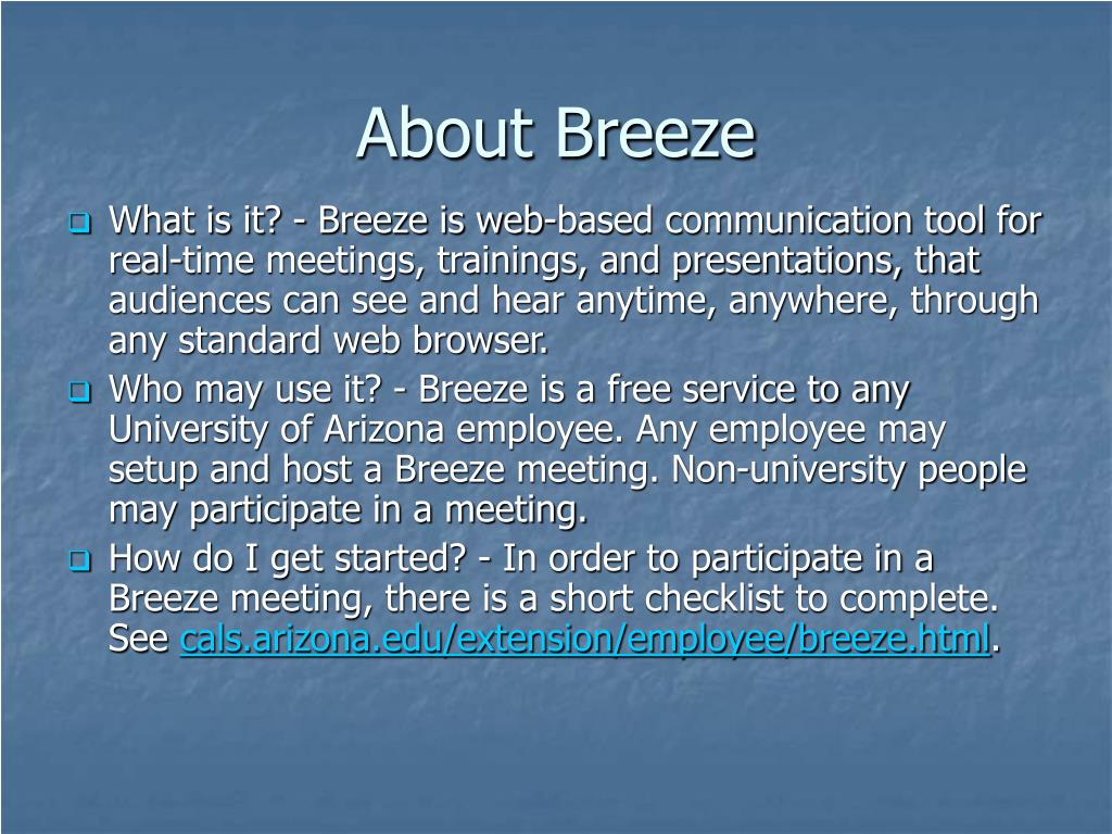 About Breeze