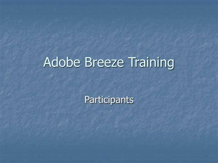 Adobe breeze training l.jpg