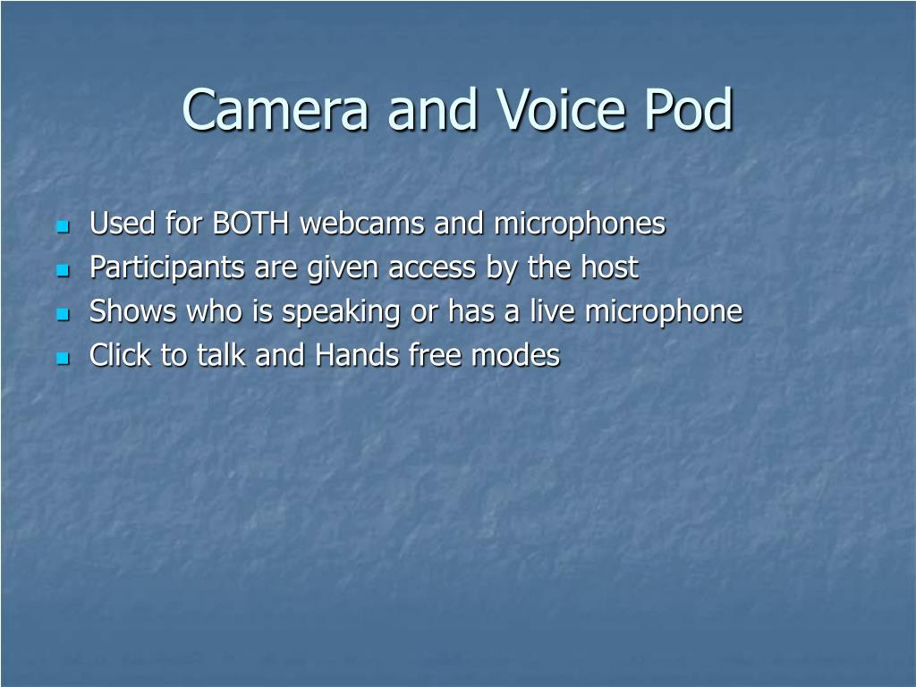 Camera and Voice Pod