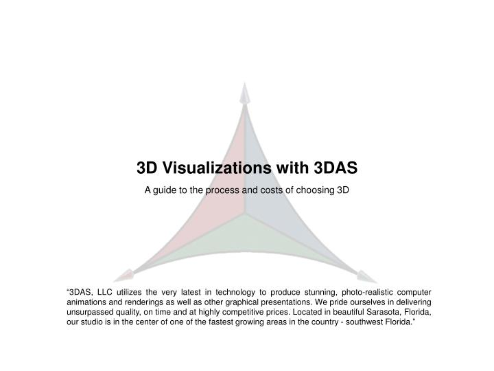3D Visualizations with 3DAS