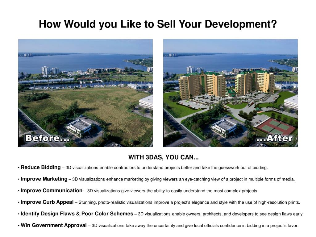 How Would you Like to Sell Your Development?