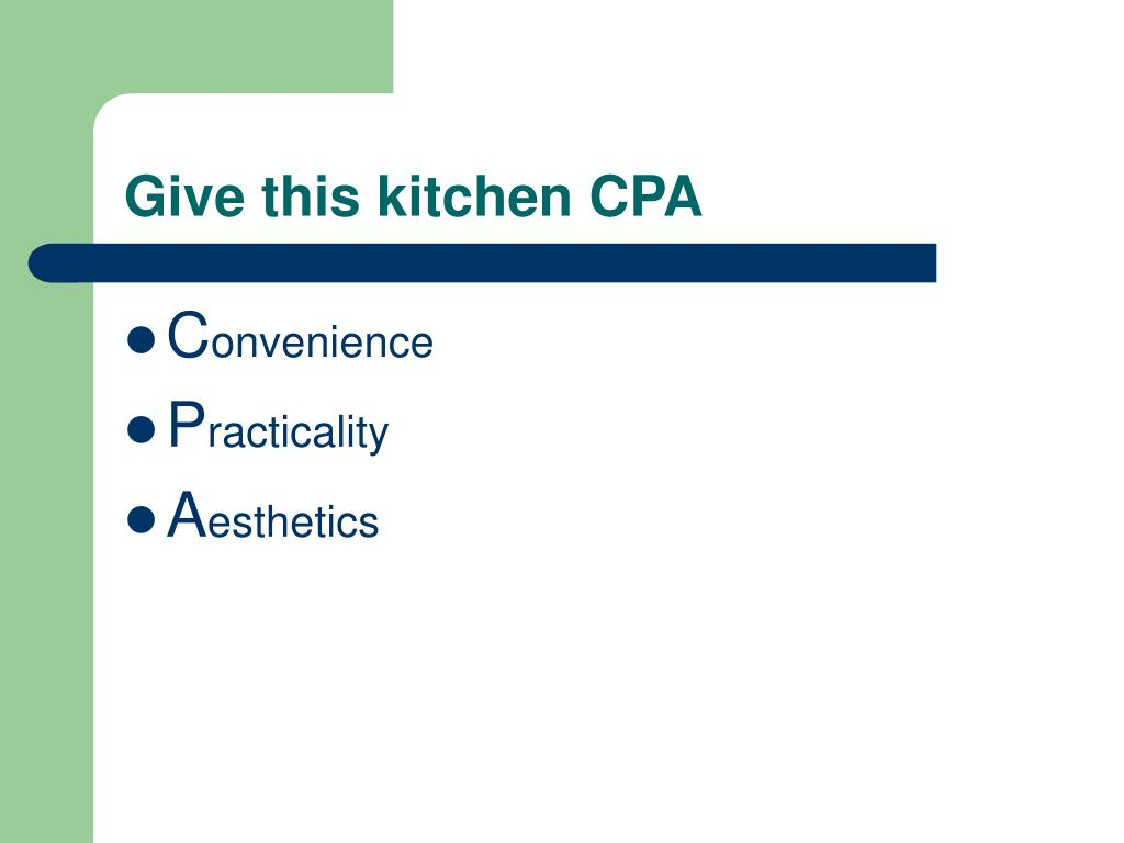 Give this kitchen CPA