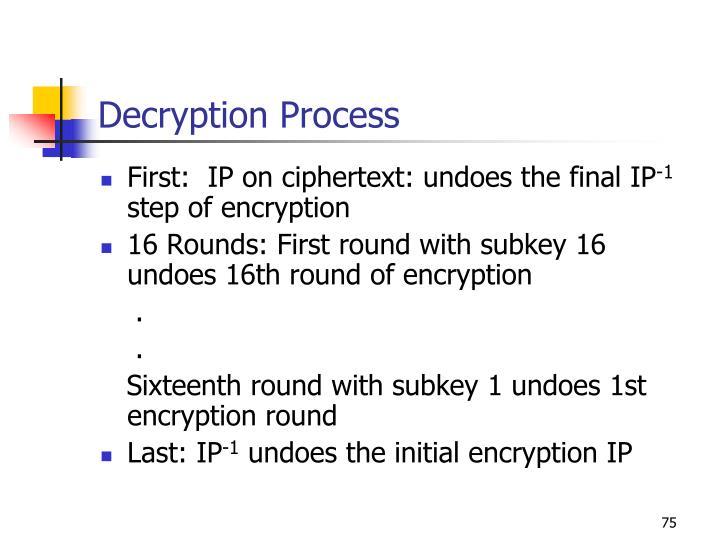Decryption Process