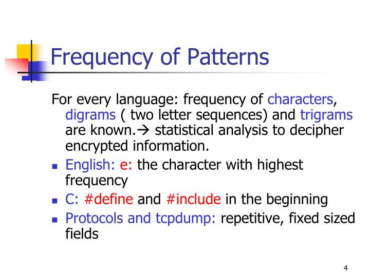 Frequency of Patterns