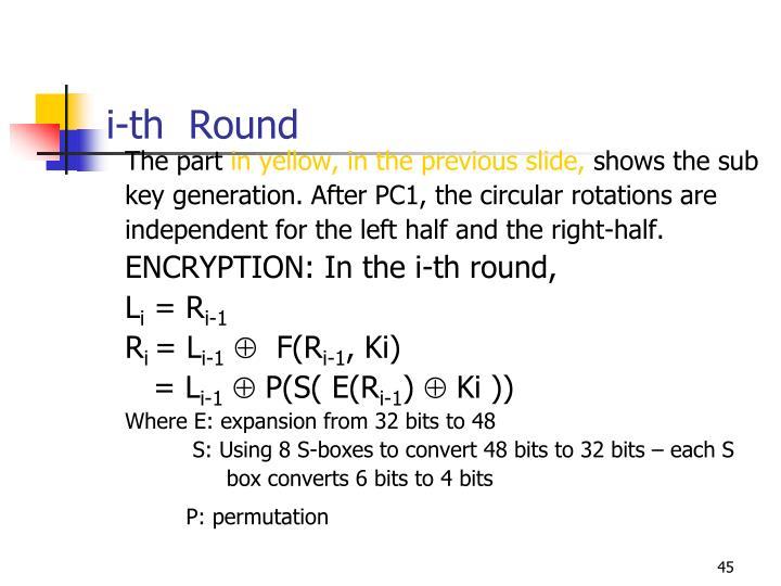 i-th  Round