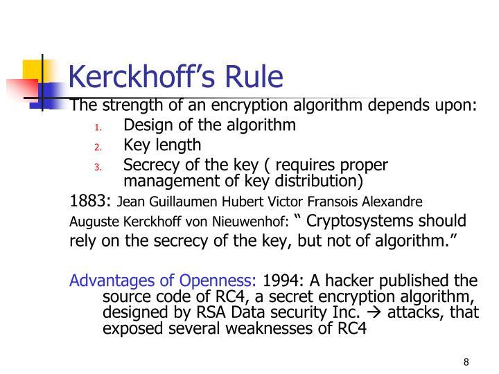 Kerckhoff's Rule