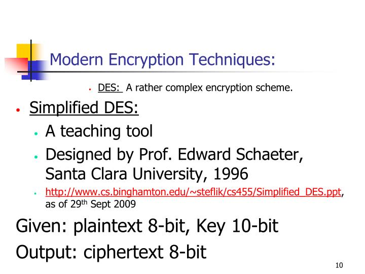 Modern Encryption Techniques: