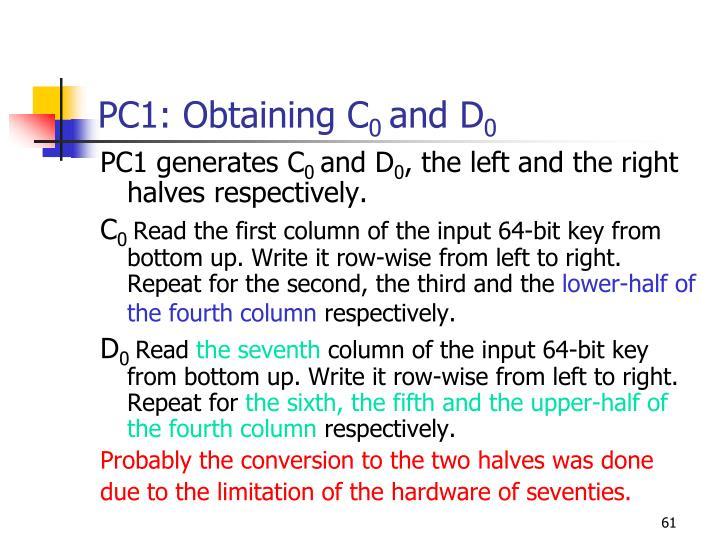 PC1: Obtaining
