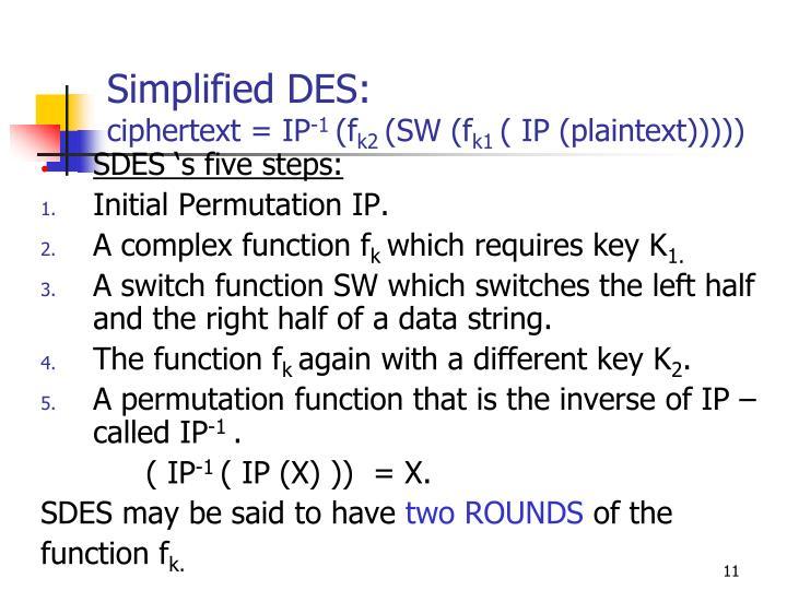 Simplified DES: