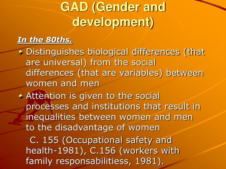 GAD (Gender and development)