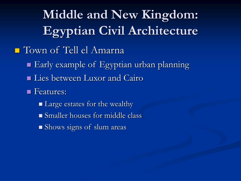 Middle and New Kingdom: