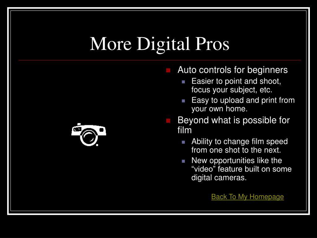 More Digital Pros