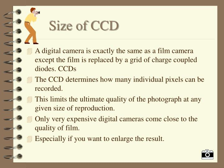 Size of ccd