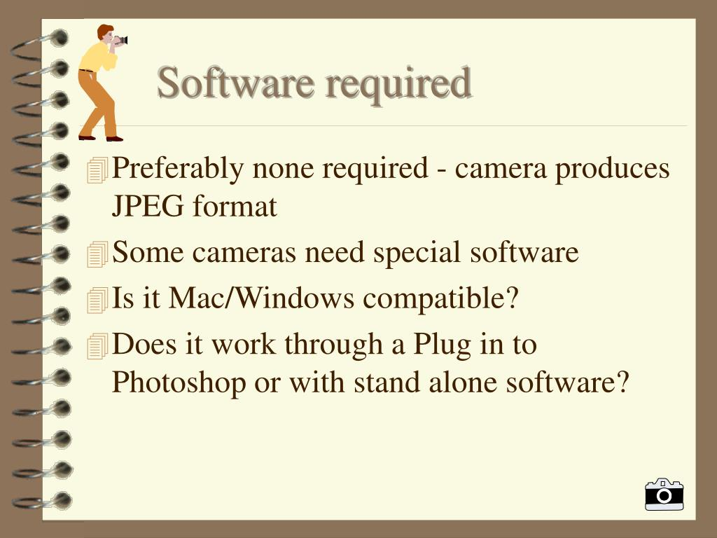 Software required